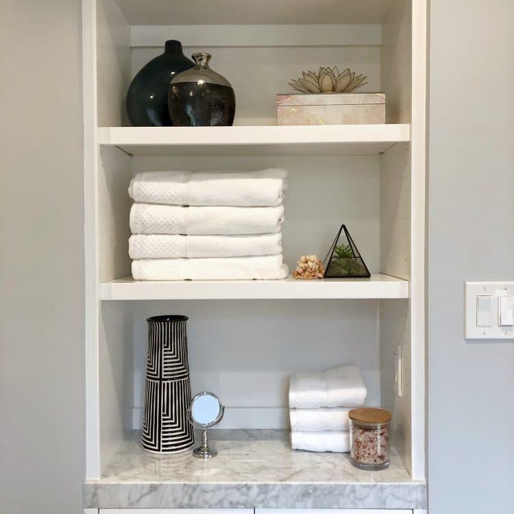 Garnet Bathroom Remodel Shelves Vignette