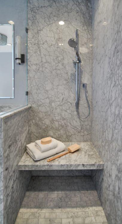 Garnet Bathroom Remodel Shower Bench