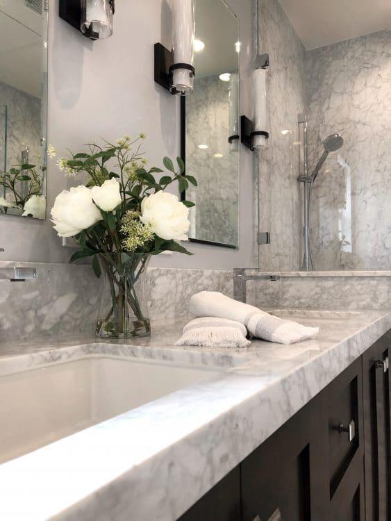 Garnet Bathroom Remodel Vanity Angled View